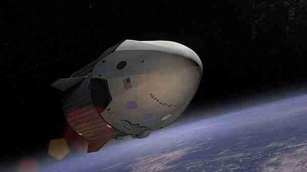 Dragon 2 uzayda. Temsili resim.