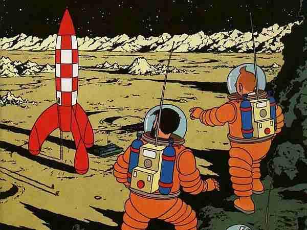 tenten yanılıyor. Uzaya tek kademeli roketle çıkılmaz; yani Dünya'da yapamayız. Mars'ın yerçekimi az ve Ay'ın. Oralarda olabilir.