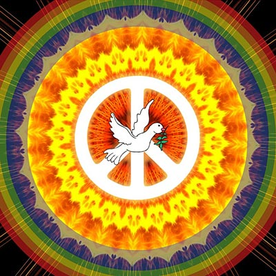 Hippie peace sign (Image: Pixabay)