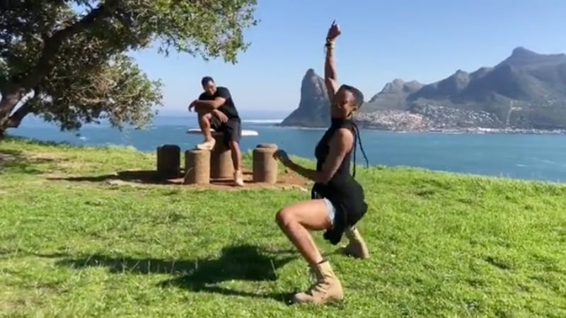 "WATCH CIARA & RUSSELL WILSON TAKE PART IN DRAKE'S ""IN MY FEELINGS"" DANCE CHALLENGE IN SOUTH AFRICA"