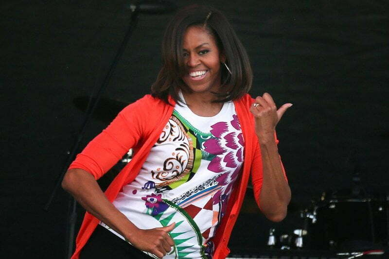 Michelle Obama Front Row Beyonce