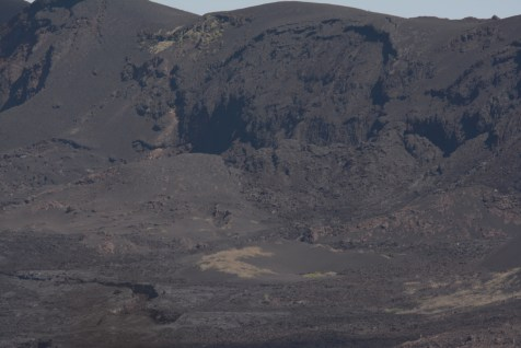 Two lava holes from the last eruption