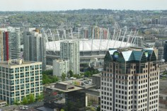 BC stadium from lookout