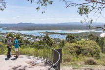Noosa heads lookout over the bay