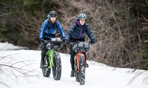 KHS Fat Tire bikes enjoying the snow