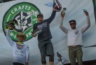 KHS pro mtb team rider Nik Nestoroff on podium in second place at the Craft-n- Cranks race in Big Bear.