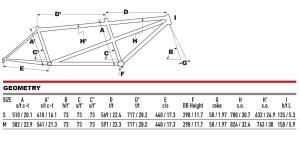 2020 KHS Cross Tandem geometry