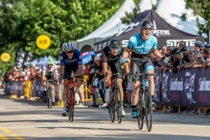 Elevate KHS road team rider Sam Bassetti wins stage 3 of the 2019 Tulsa Tough.