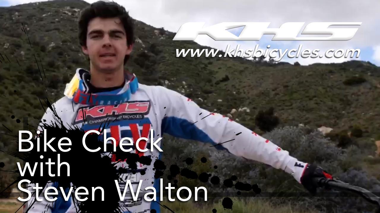 KHS pro MTB team rider Steven Walton bike check photo.