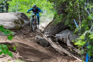 KHS team rider Nik Nestoroff riding at Tamarack Idaho.