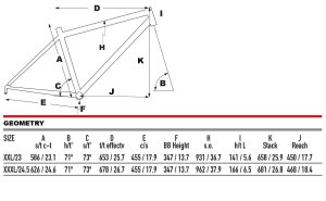 2021 KHS Bicycles BNT 29 geometry
