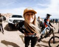 KHS Pro MTB team rider Kailey Skelton all smiles after winning the second round of the DVO Winter Series at Bootleg Canyon.