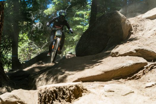 KHS Pro MTB rider Kailey Skelton on her race run at Tamarack Resort,ID. for the third stop of the Northwest Cup.