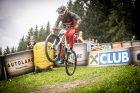 KHS Pro MTB rider Nik Nestoroff on his race run at the 2021 Crankworx even in Innsbruck, Austria.