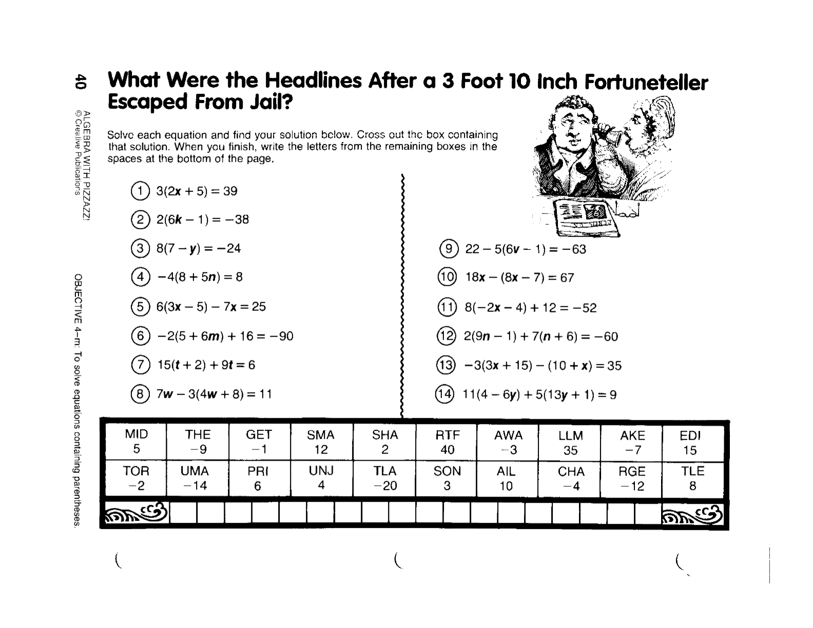 Algebra Worksheets With Answer Key