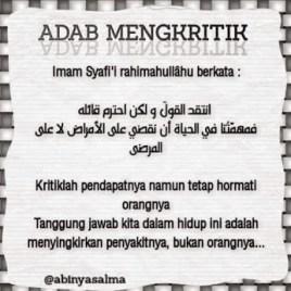 Adab Mengkritik
