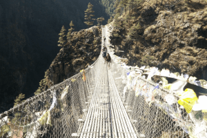 hillary bridge near namche bazar