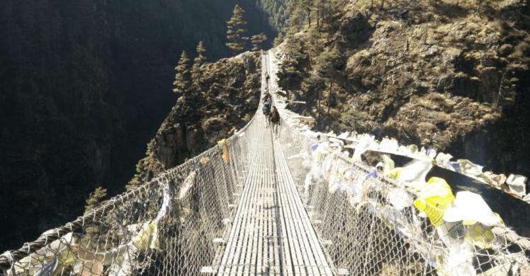 hillary bridge near namche bazar