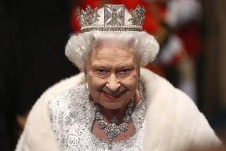 Britain's Queen Elizabeth leaves after the State Opening of Parliament, at the Palace of Westminster in London