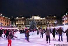 Skating in the Christmas Season