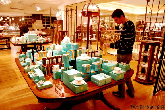 David checking out Fortnum's Coronation line