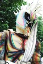 Imaginative costumers in the parade...