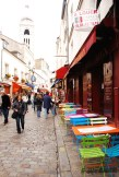 Walking down the colorful streets of Montmartre