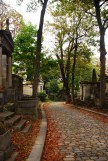 Walking down the beautiful serpentine paths of Pere Lachaise