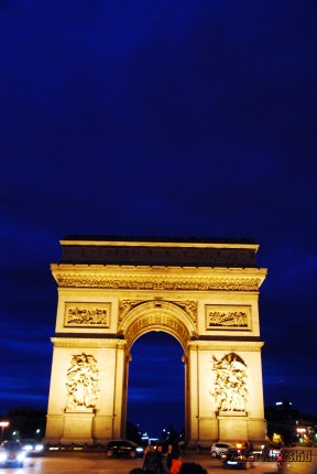 The Arc de Triomphe in beautiful Paris