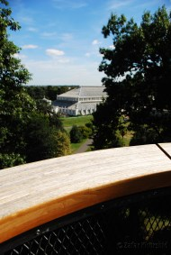A view of the Temperate House from the Tree Top Walkway