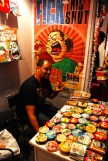 The talented Abhijeet Kini with his Mausi and his Merch