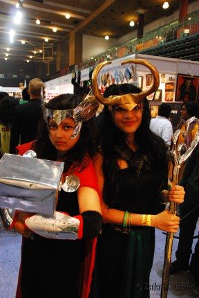 A talented pair of female cosplayers doing a pair of legendary sisters?