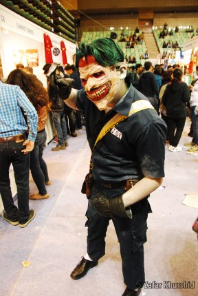Hands down the creepiest Joker at the Con!
