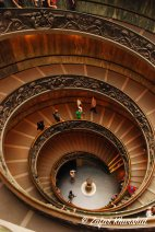The famous spiral staircase in the Vatican (and the fool who fawned over it)