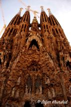 The beautiful, intricate and crazily complex nativity facade at the Sagrada Familia