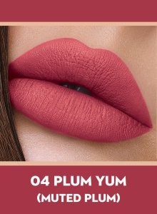 04 Plum Yum (Muted Plum) Of Sugar Smudge Me Not Liquid Lipstick