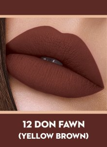 12 Don Fawn (Yellow Brown) Of Sugar Smudge Me Not Liquid Lipstick