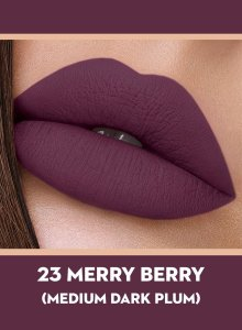 23 Merry Berry (Dark Plum) Of Sugar Smudge Me Not Liquid Lipstick