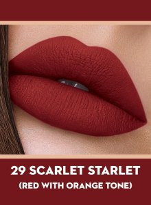 29 Scarlet Starlet (Orange Red) Of Sugar Smudge Me Not Liquid Lipstick