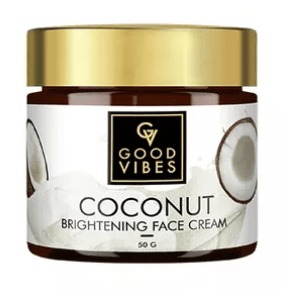 Packaging Of Good Vibes Coconut Brightening Face Cream