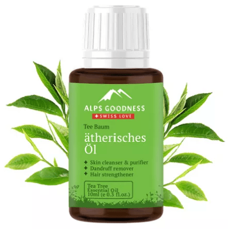 Packaging Of Alps Goodness Tea Tree Essential Oil