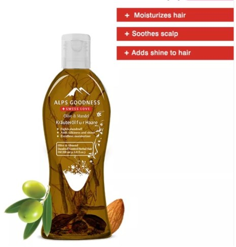Alps Goodness Herbal Hair Oil - Olive & Almond