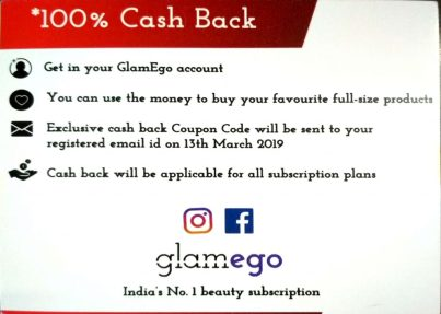 Information On Gift Card In Glamego Box March 2019