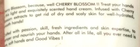 Description Of Good Vibes Hydrating Hand Cream – Cherry Blossom