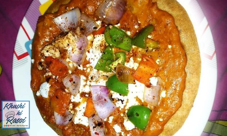आटा पिज़्ज़ा रेसिपी   How to make Healthy Whole Wheat Pizza