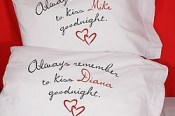 Always Remember to Kiss Good Night Pillow