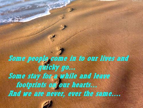 Footprints In Sand Friendship Quotes Khyati Kothari Diy