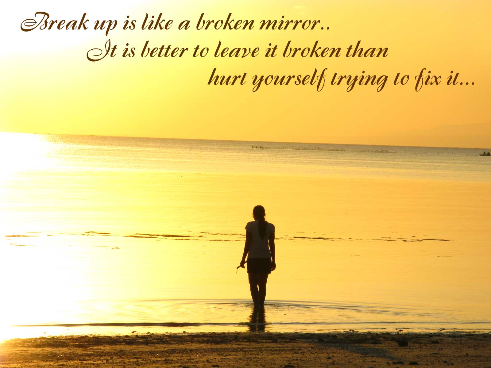 Break Up Love Quotes Break Up Is Like A Broken Mirror » Love Quotes » Khyati Kothari Diy