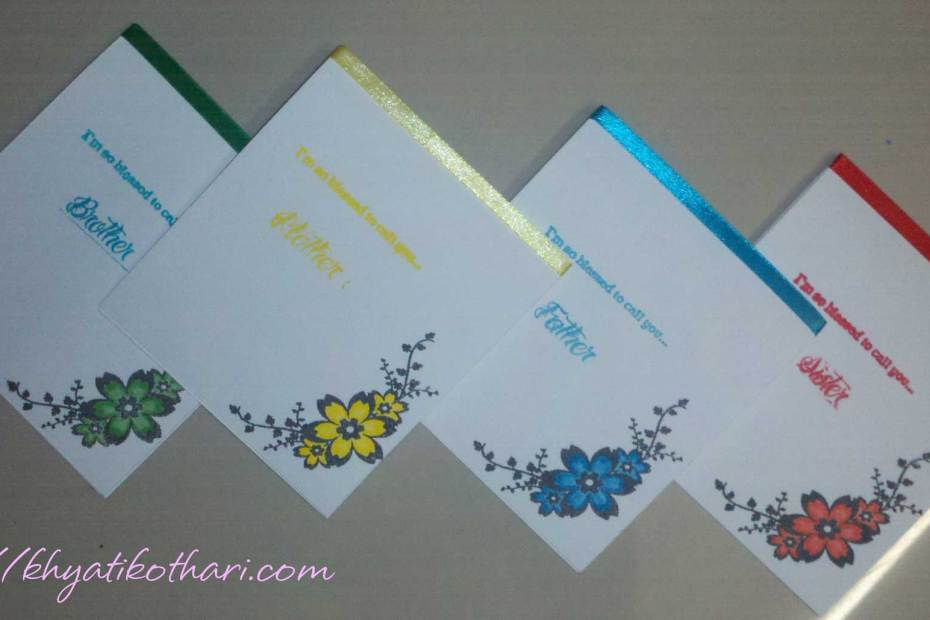 Note Cards For Family NoteCards