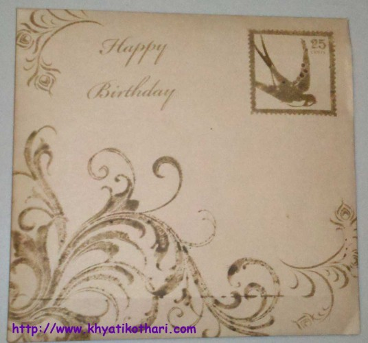 Sisters Bday Card Envelope Card65